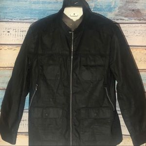 INC BLACK COATED JACKET XL